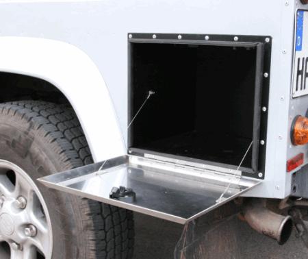 Caja seguridad exterior para Defender 110