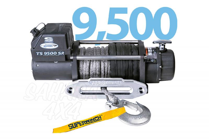 Superwinch Tiguer Shark 9.500lbs  4.309 Kg Cable sintetico - Cabrestante electrico a 12v