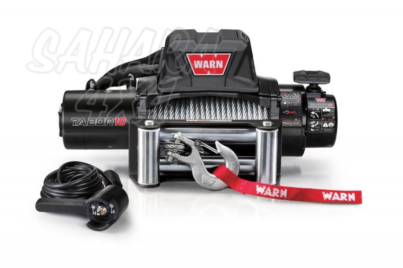 Cabrestante Warn TABOR 10k 12v Cable de Acero - 4.536 kg. Caja de reles separada. Fabricado por WARN, Homologable CEE.