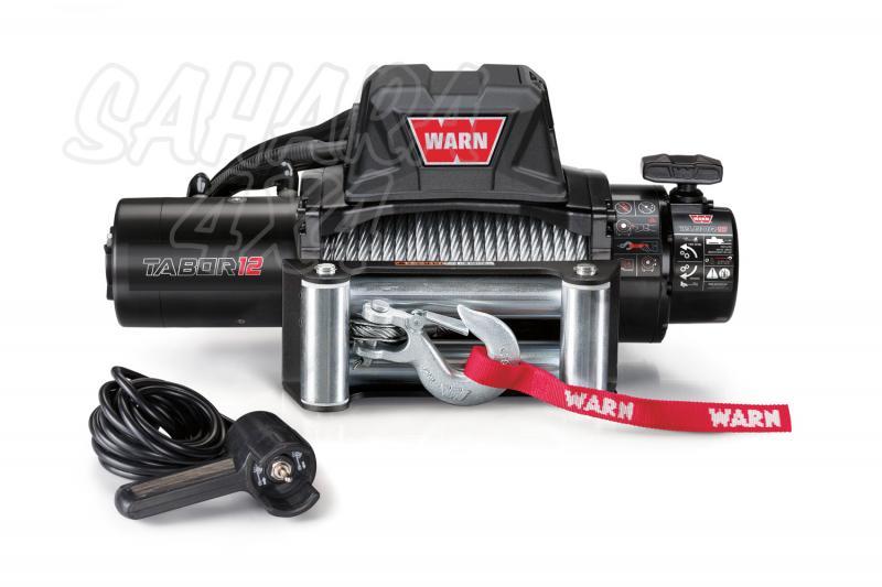 Cabrestante Warn TABOR 12k 12v Nuevo Modelo - 5.440 Kg. Caja de reles separada. Fabricado por WARN, Homologable CEE.