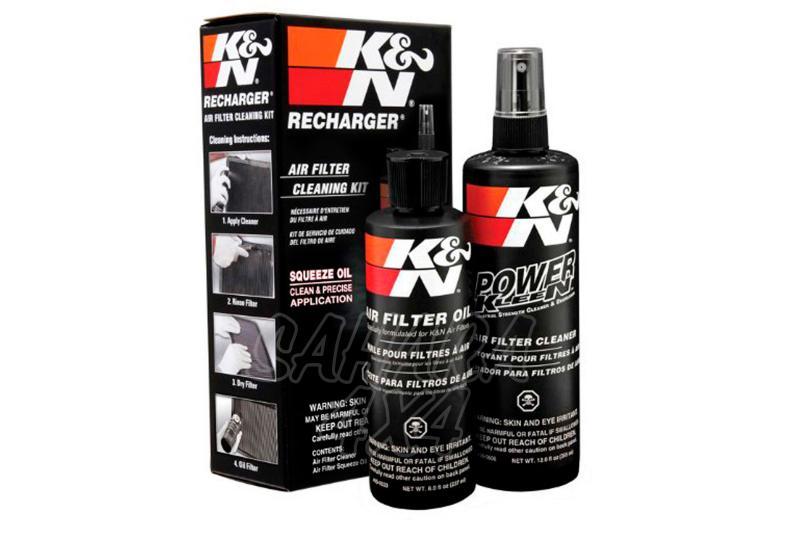 Kit de limpieza filtro K&N - Aceite 237ml + limpiador 355ml