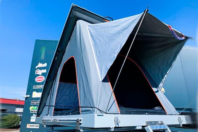 Tienda de techo Alu-Cab gris 1.40 mts