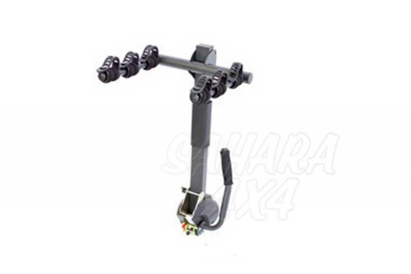 Portabicicletas sobre bola Reclinable 3 - Portabicicletas para 3 bicis abatible para facilitar la apertura del maletero.