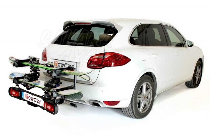 Portaesquís Ski & Board Deluxe - Portaesquís plegable automáticamente con sistema de cierre rápido. Abatible.