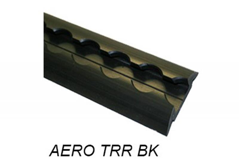 Perfil Aero sin punteras media caña negro