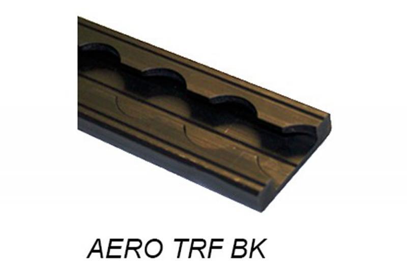 Perfil Aero sin punteras plano negro