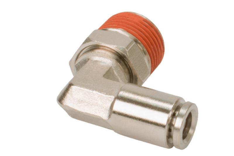 Conector 90º  para tubo de 1/4 a rosca de 1/4 Macho