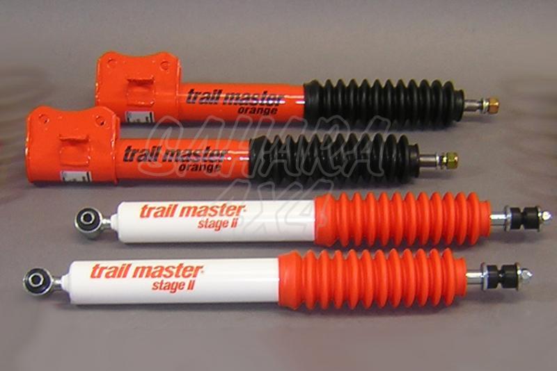 Kit 4 Amortiguadores Trail Master Stage II Suzuki Vitara/Grand Vitara/Santana 300 - Kit Completo de 4 amortiguadores.