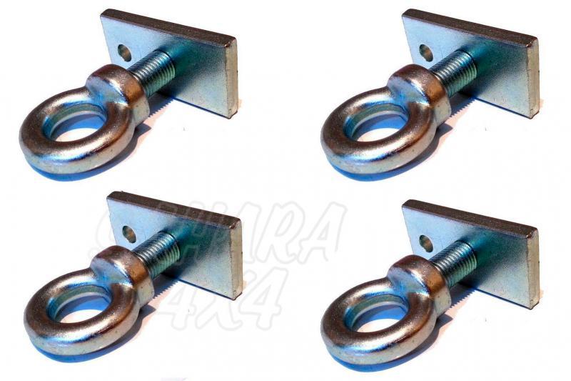 Anillas de fijacion (kit 4 unidades) - Kit de 4 soportes + 4 agarraderas