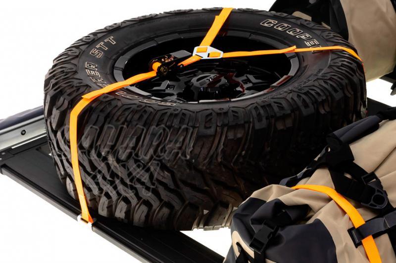 Correa de amarre con trinquete (Y) para rueda de repuesto 1m x 25mm