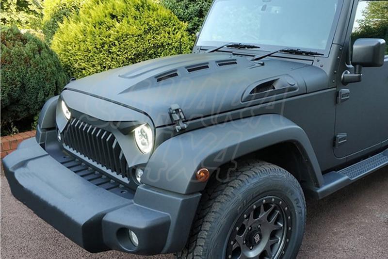 Capó acero negro mate AVENGER OFD para Jeep Wrangler JK 07-18