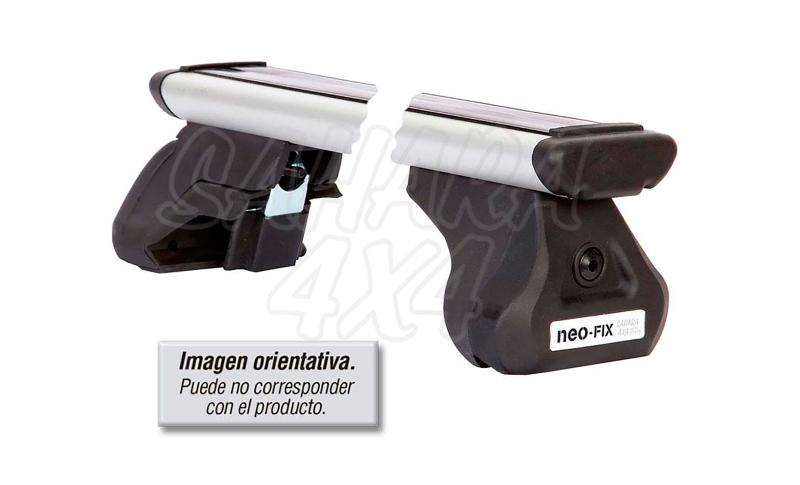 Kit barras de techo Pool Line para Jeep Compass/Patriot - Tipo G con soportes Teck TOP, pulse para ver toda la información.