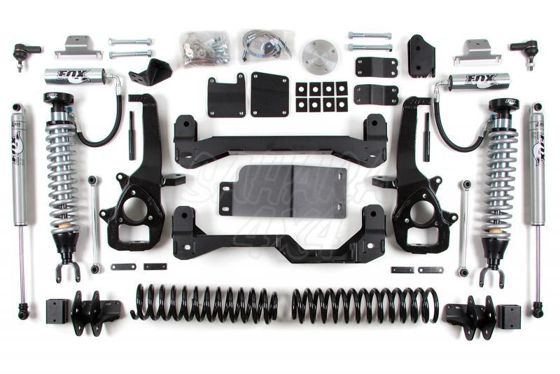 Kit elevacion con Coil Over Delanteros BDS Air Ride Kit 15.24 cm Dodge Ram 1500 4WD 13-16 - Kit Completo