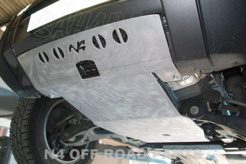 Protectores N4 Duraluminio 8mm Land Rover Discovery III - Fotos orientativas , no contractuales.
