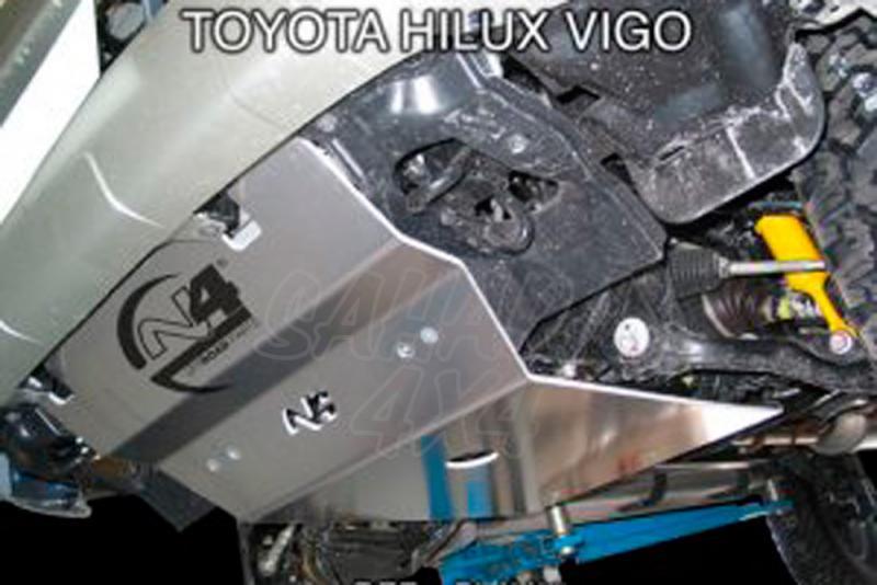Protecciones N4 Duraluminio 8 mm Hilux Vigo  - Disponible Cubrecarter , Cubre Cambios y transfer .