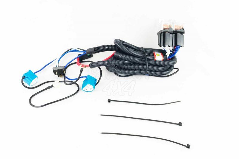 Cableado de alto rendimiento para luces originales H4 - Mejora la potencia de los faros originales, valido para coches con conector H4 12v