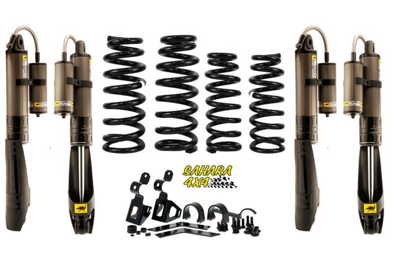 Kit de suspensión OME BP-51 +4cm para Jeep Wrangler JK - El Kit consta de 4 Amortiguadores BP-51 y 4 Muelles. Seleccione su configuración.