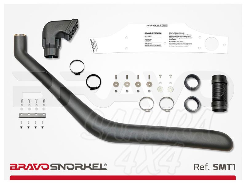 Snorkel Bravo para Mitsubishi Montero Sport (2000-2007) - El auténtico Snorkel Europeo
