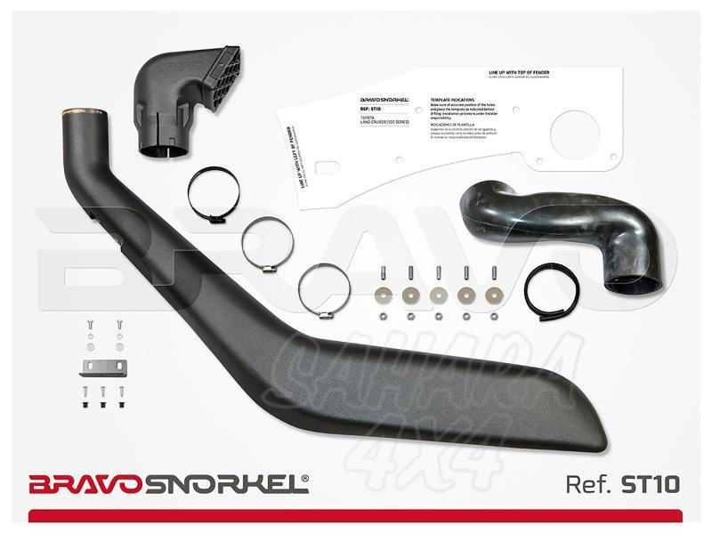 Snorkel Bravo para Toyota Land Cruiser 100 Series (1998-2007)  - El auténtico Snorkel Europeo
