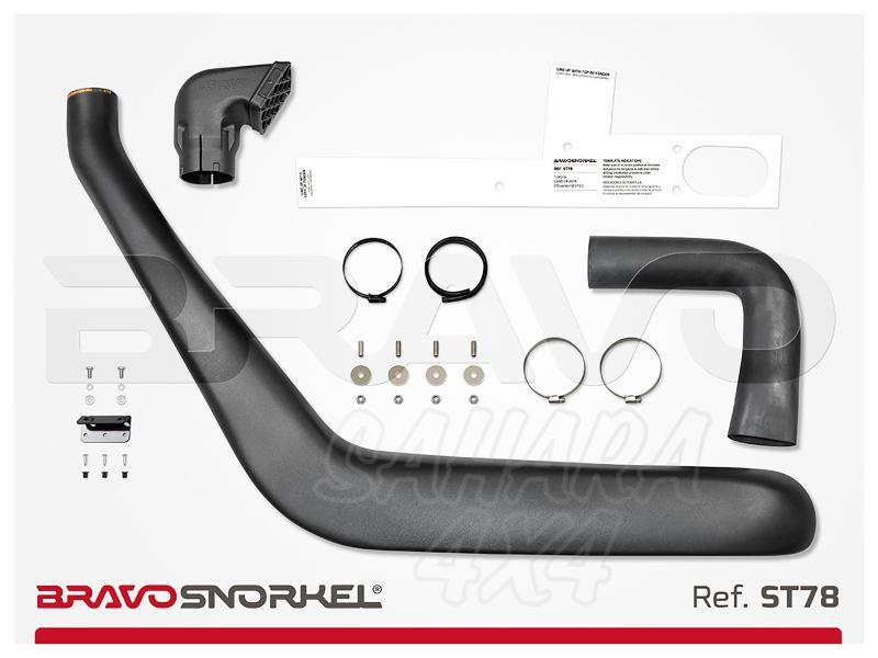 Snorkel Bravo para Toyota Land Cruiser 78 Series (1985-2007) - El auténtico Snorkel Europeo
