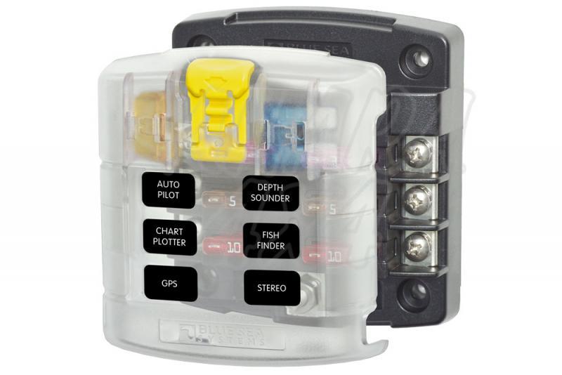 Caja auxiliar para 6 o 12 fusibles (sólo Positivo)