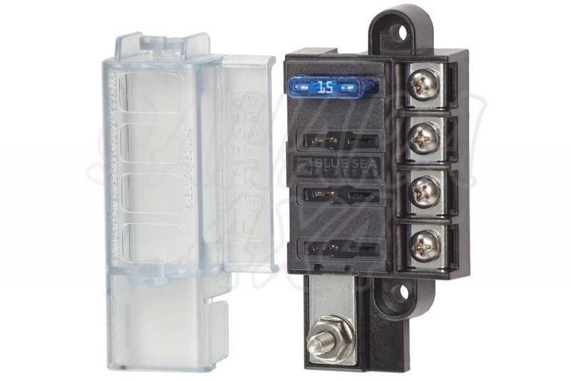 Caja auxiliar para 4 o 8 fusibles - Recomendable para instalaciones 12v - 32V