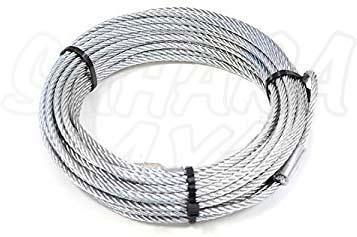 Cable de acero + gancho para winch , varias medidas - Con gancho