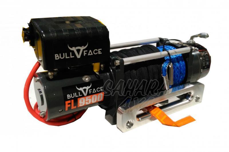 Cabrestante Bullface 9.500Lbs 4.309Kg 12v (cable sintético)