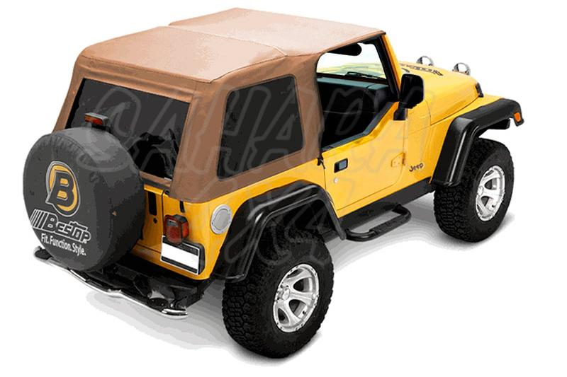 Capota TrekTop NX Bestop Jeep Wrangler TJ 3 Puertas - Con Sunrider delantero