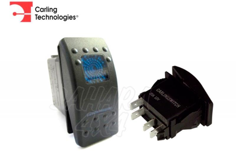 Interruptor tipo ARB fondo AZUL - pulsador/off/pulsador