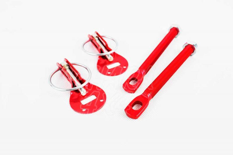 Cierres de Capó Tipo Anilla (Rojo) - La manera rápida de apertura, para asegurar capós y puertas traseras.