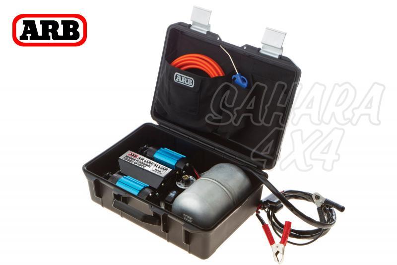 Compresor doble cuerpo ARB 12 vol con Calderin de 4lts. CKMTP12 - Nuevo modelo de compresor 12v ARB.