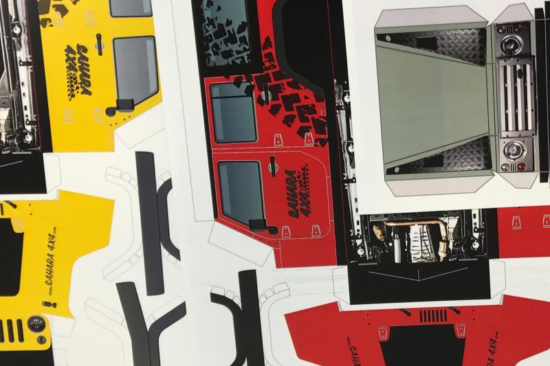 Maqueta papel - Varios modelos 4x4