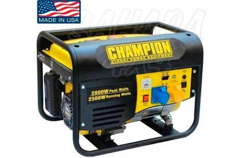 CHAMPION 2800 Watt Generador Inversor ( GASOLINA ) - Este generador CHAMPION a gasolina, es alimentado por un cilindro de 6,5hp de 196cc, motor OHV de 4 tiempos que producen 2500 vatios de funcionamiento y 2800 vatios de salida