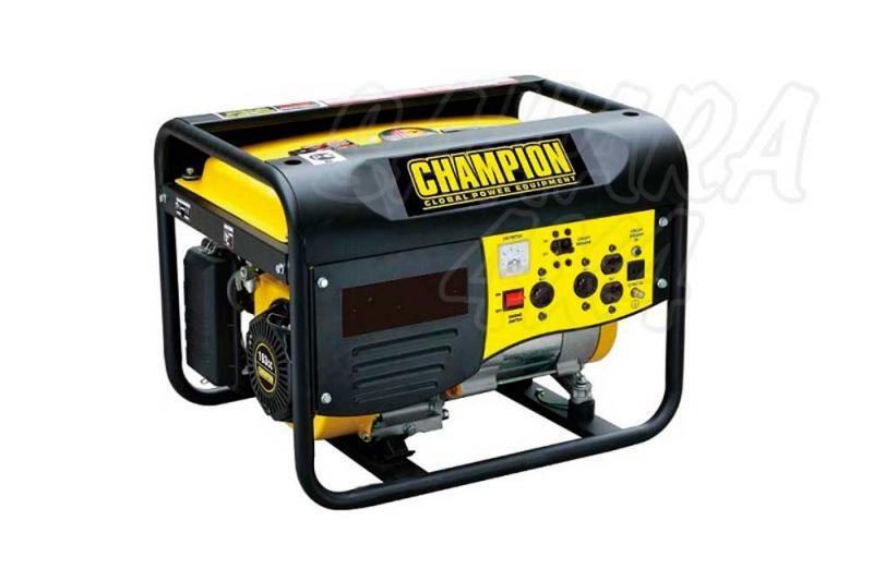 CHAMPION 3500 Watt Generador Inversor ( GASOLINA ) - El generador portátil Champion CPG4000 a gasolina es impulsionado por un solo cilindro, motor OHV de 4 tempos, que produce 3000W contínuos y un pico de 3500W