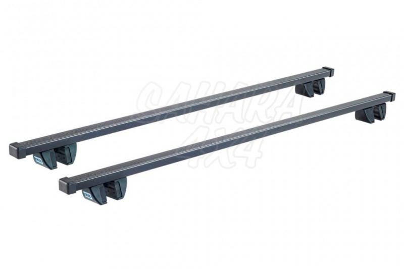 Kit Barras Cruz Acero negro SR para railing - Kit de 2 barras , con railing