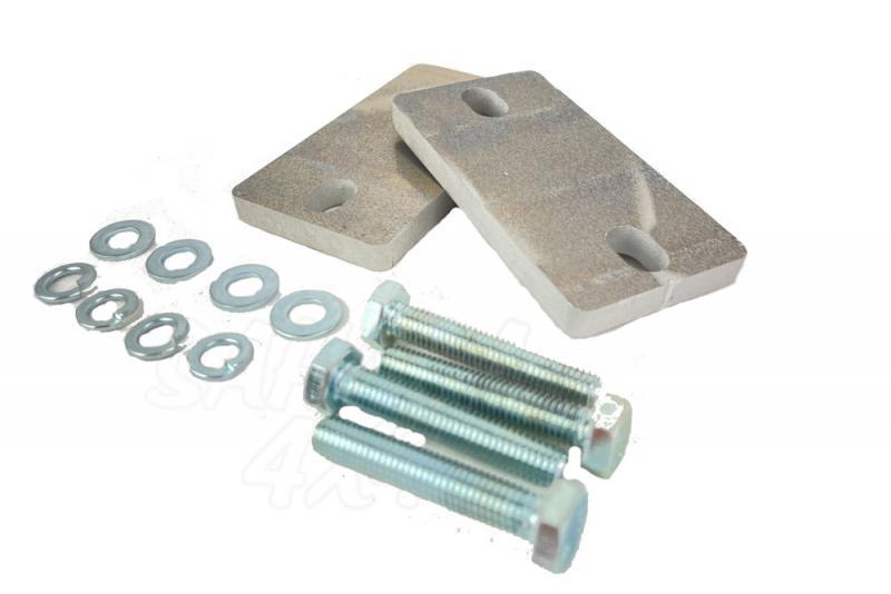 Kit Calzo aluminio 10 mm Estabilizadora delantera JK