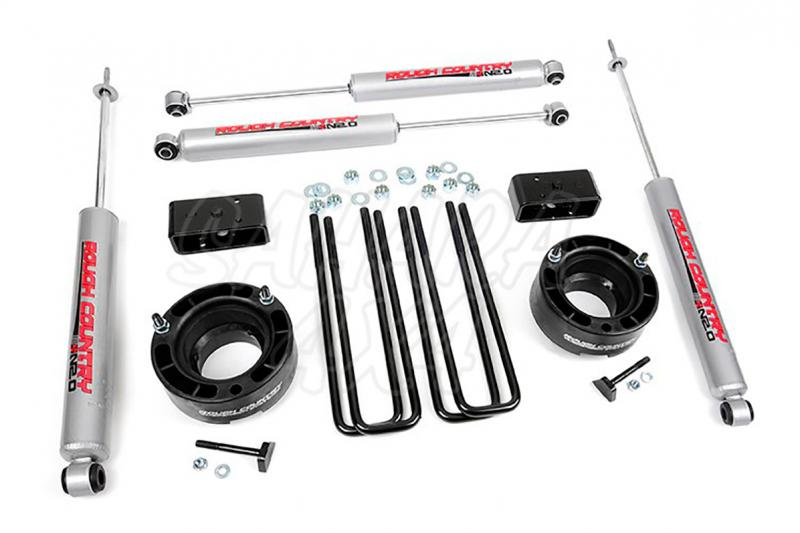 Kit elevacion Rough Country 5.08 cm Dodge Ram 1500 94-01 - Kit Completo