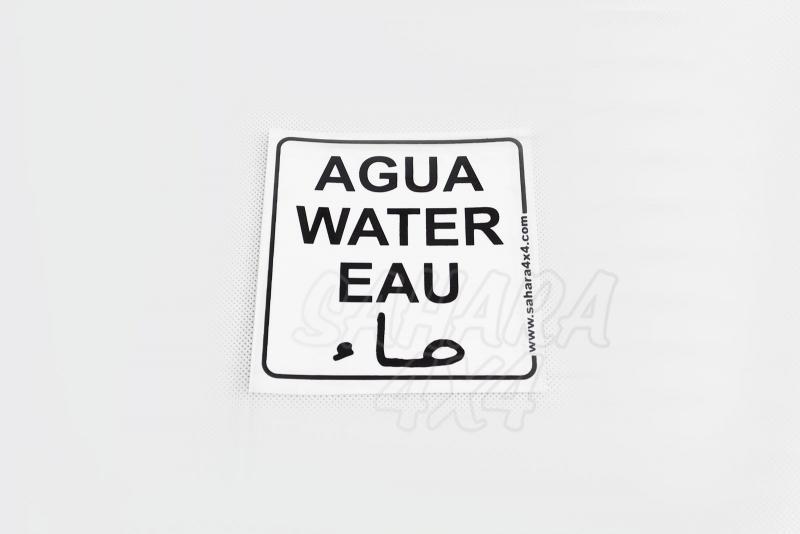 Pegatina de Agua Sahara 4x4
