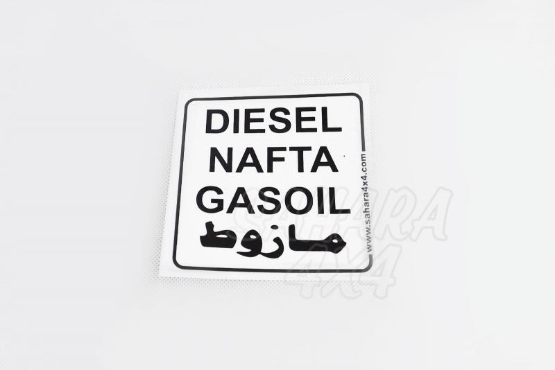 Pegatina de Diesel Sahara 4x4