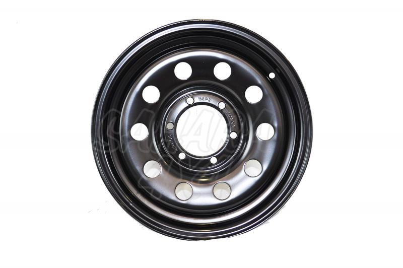 Llanta Acero Negro Toyota Land Cruiser 150-155 - Dynamic Wheel. Medidas disponibles: 7x17 8x17