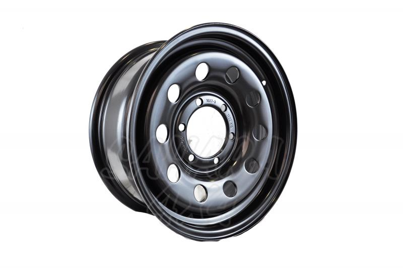 Llanta Acero Negro Ford Maverick - Dynamic Wheel. Medidas disponibles: 7x15 8x15 10x15 7x16 8x16 7x17 8x17