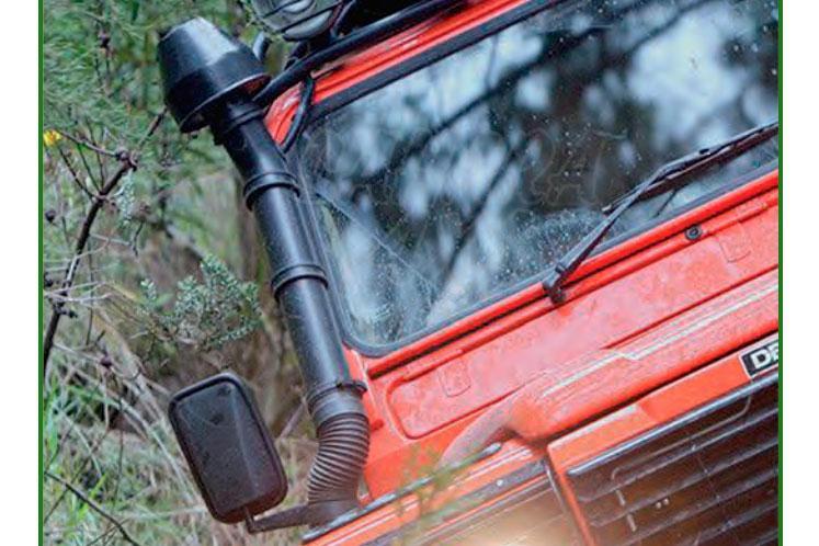 Snorkel para Defender 90/110/130 toma lateral , metal - Motores 200 Tdi , 300 Tdi, Td5