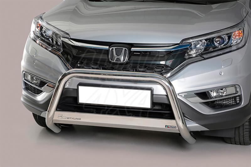 Defensa central inox 63mm con traviesa para Honda CR-V 2016-2018
