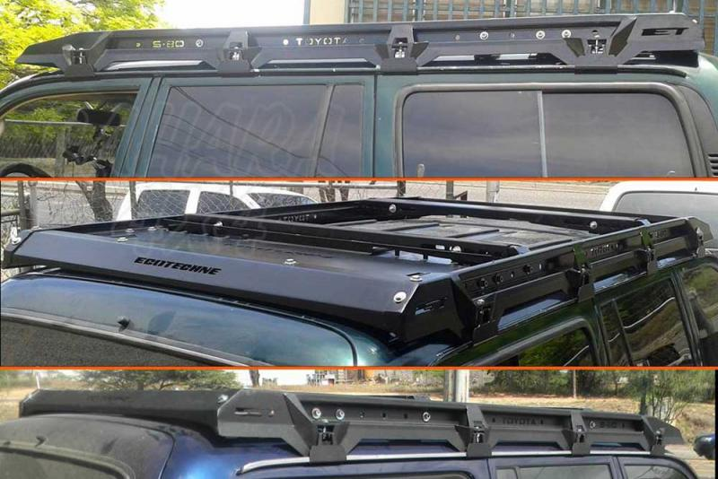 Porta equipajes ecotech para Toyota HDJ 80 - Porta equipajes+Bandeja+Portafaros.Válida para Land cruiser HDJ 80. Pulse para ver toda la información.