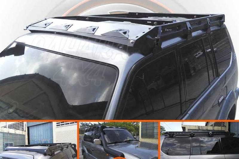 Porta equipajes ecotech para Toyota KZJ 95 5 puertas - Porta equipajes+Bandeja+Portafaros.Válida para Land cruiser KZJ 95 5 puertas. Pulse para ver toda la información.