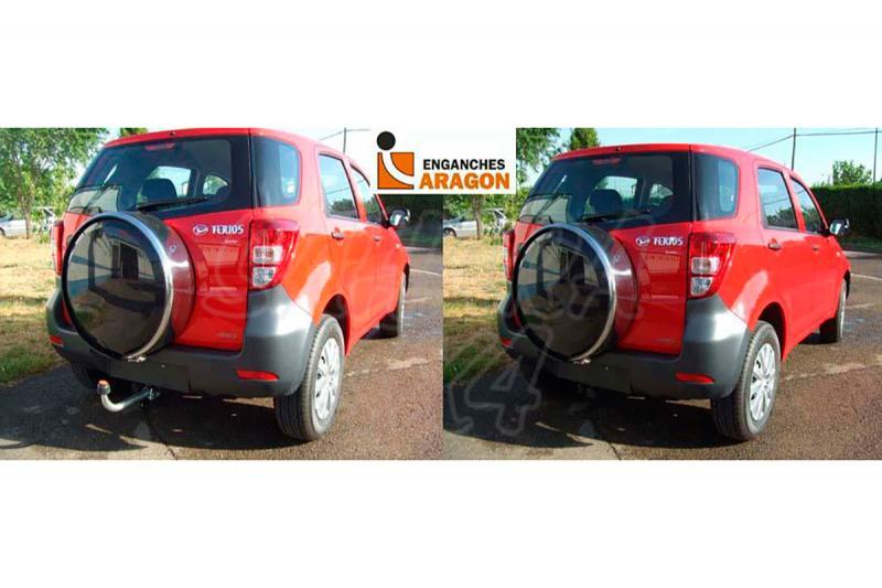 Enganche de Remolque Extraible Horizontal Daihatsu Terios 2006- - Consultar homologacion.