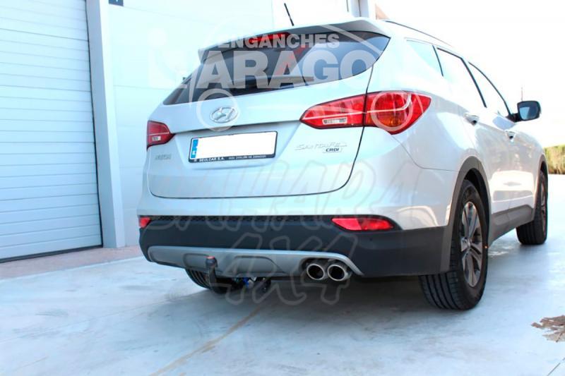 Enganche de Remolque Extraible Vertical Hyundai Santa Fe 2012- - Consultar homologacion.