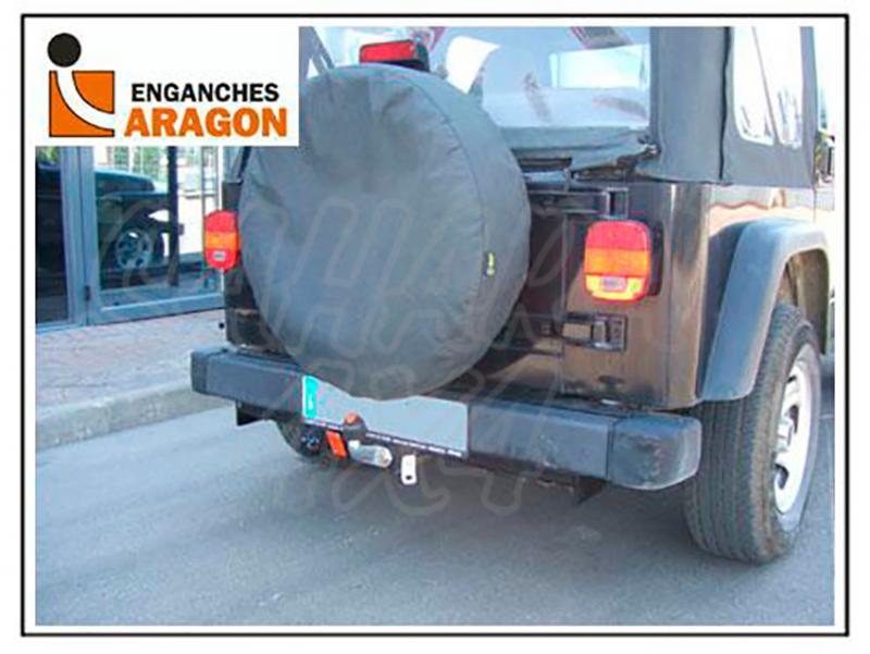 Enganche de Remolque Tipo Placa Jeep Wrangler TJ 1996-2007 - Consultar homologacion.