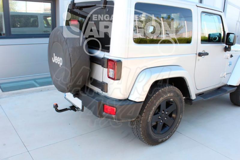 Enganche de Remolque Extraible Horizontal Jeep Wrangler JK 2007- - Consultar homologacion.